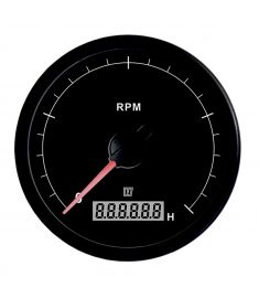 Revolution counter black 5000 RPM